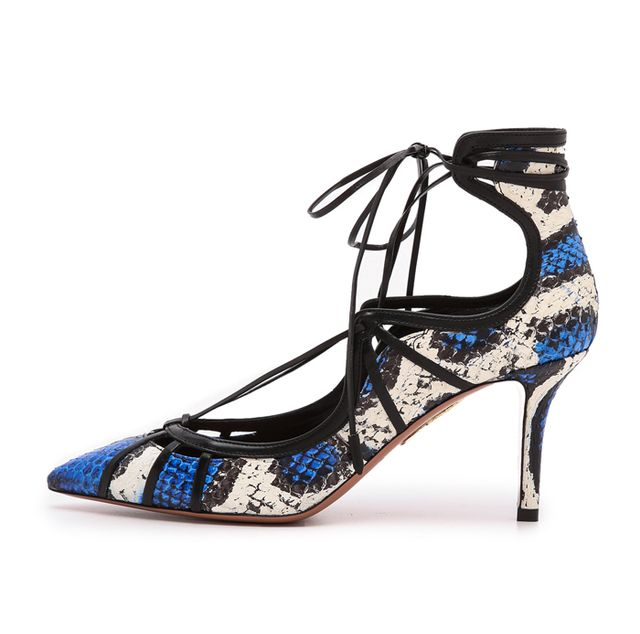 Aquazzura Seduce Me Snakeskin Pumps