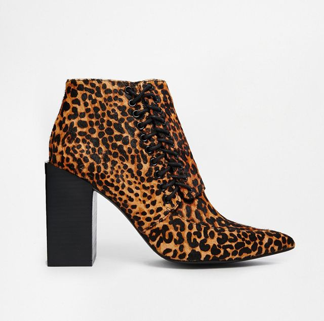 Senso Talulah Leopard Pointed Ankle Boots