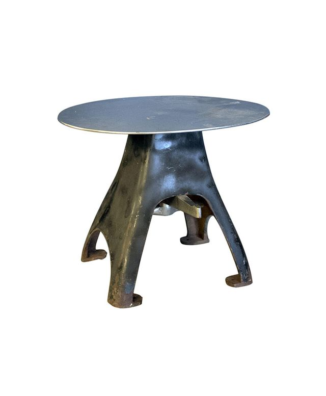 Chairish Vintage Steel Industrial Oval Coffee Table