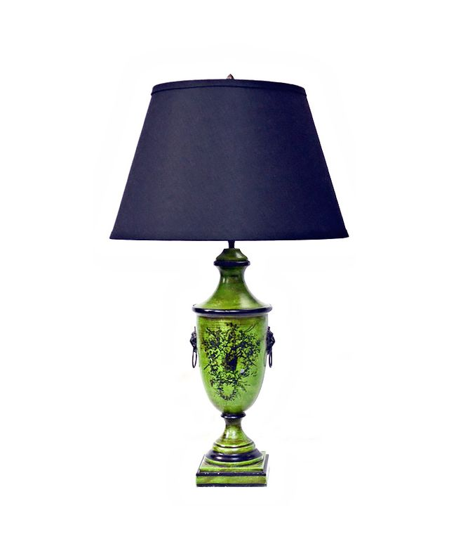 Previously Owned By a Gay Man Green Restoration Hardware Lamps