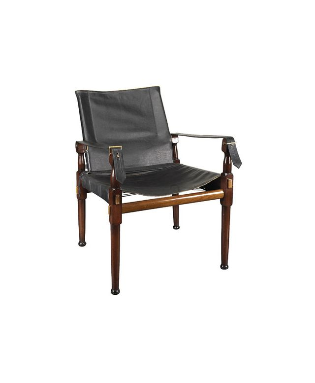 Bellacor Black Campaign Chair