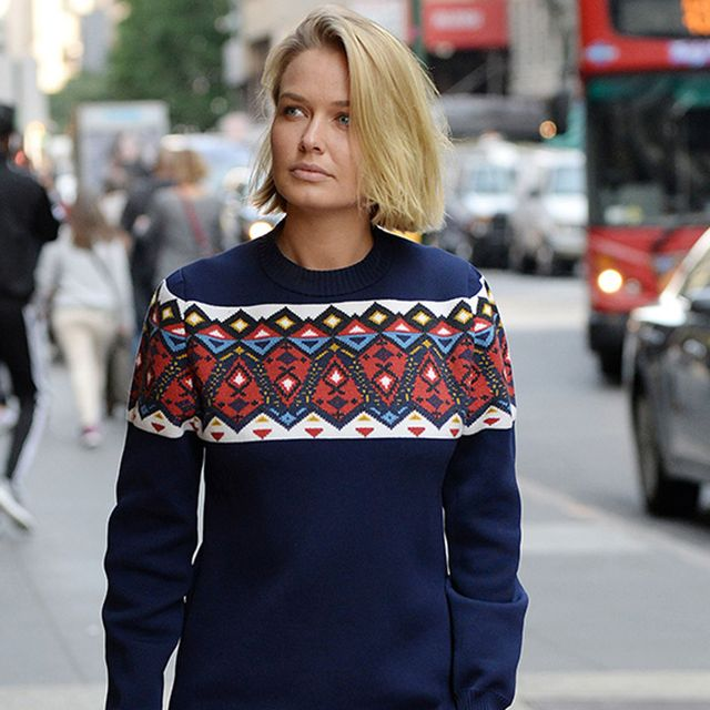 Lara Bingle Convinces Us We Need a Sweater Dress Stat
