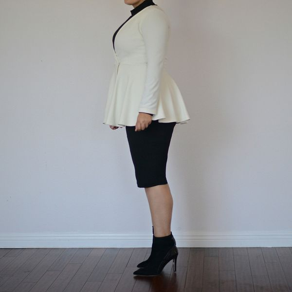 Girl With Curves Frill Hem Blazer