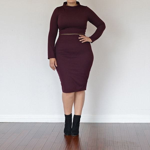 Girl With Curves High-Waist Tube Skirt