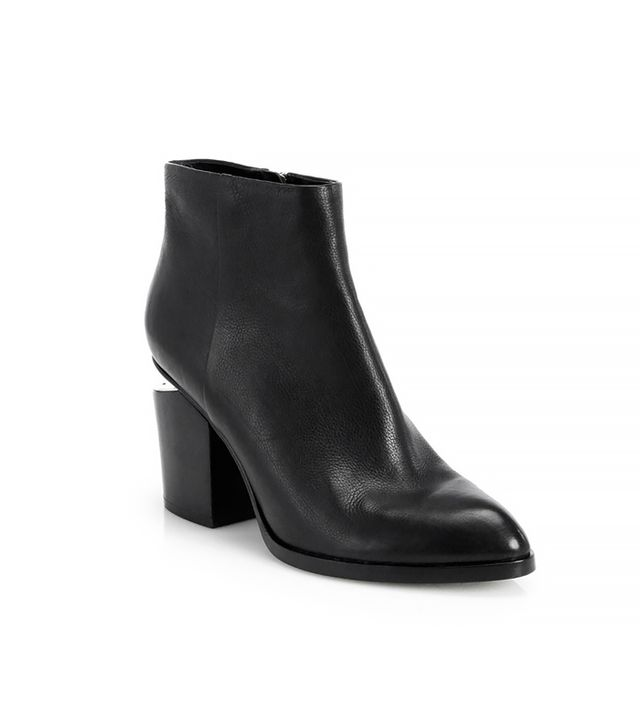 Alexander Wang Gabi Notch-Heel Leather Ankle Boots