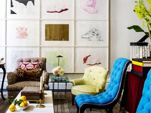 Shop the Room: An Art Buff's Vibrant Salon