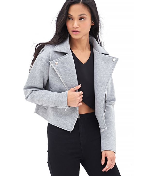 Forever 21 Heathered Moto Jacket