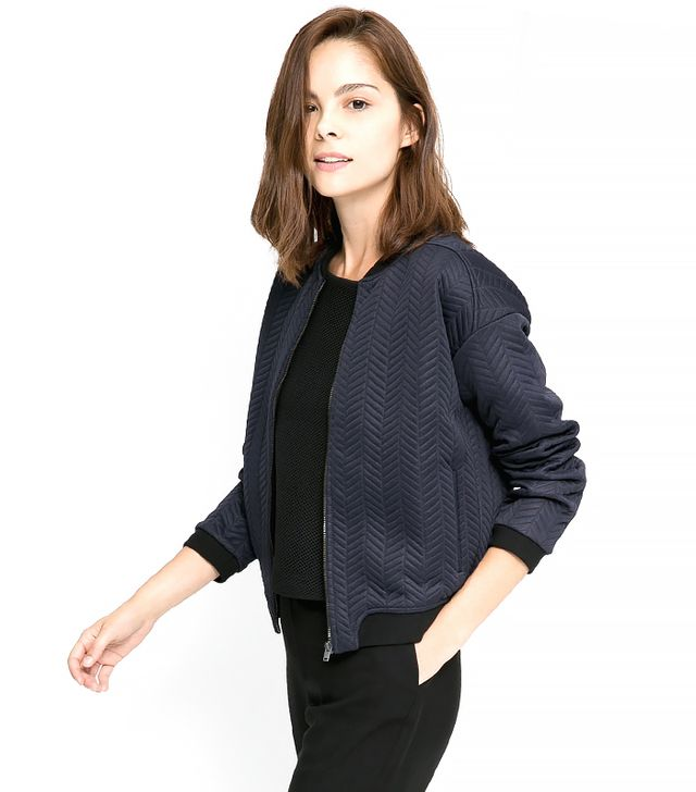 Mango Textured Bomber Jacket