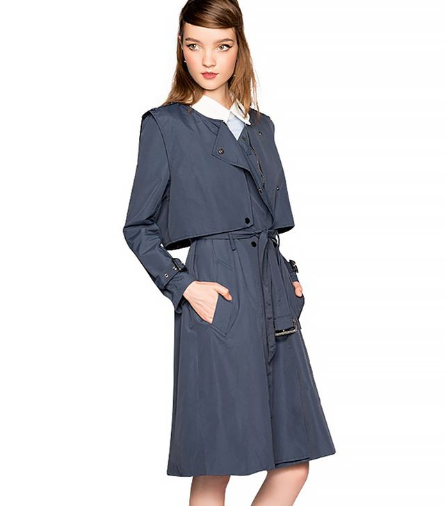 Pixie Market Holly Navy Trench Coat