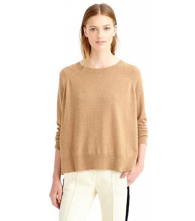 J. Crew Cashmere Side-Slit Sweater
