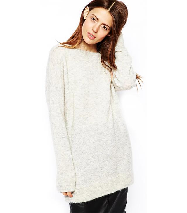 ASOS Premium Oversized Sweater In Mohair