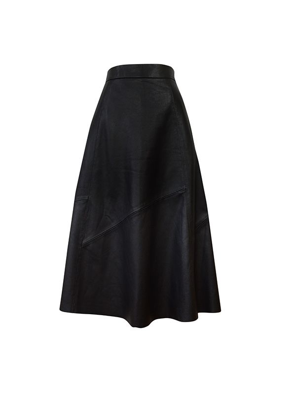 Banana Republic Leather Midi Skirt