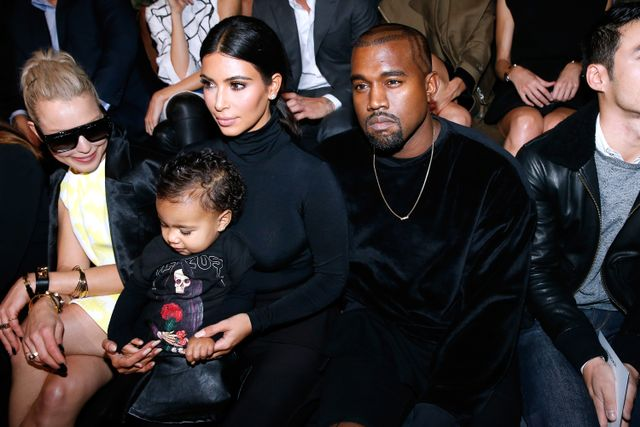 North West Sat Front Row at the Balenciaga Show in Paris