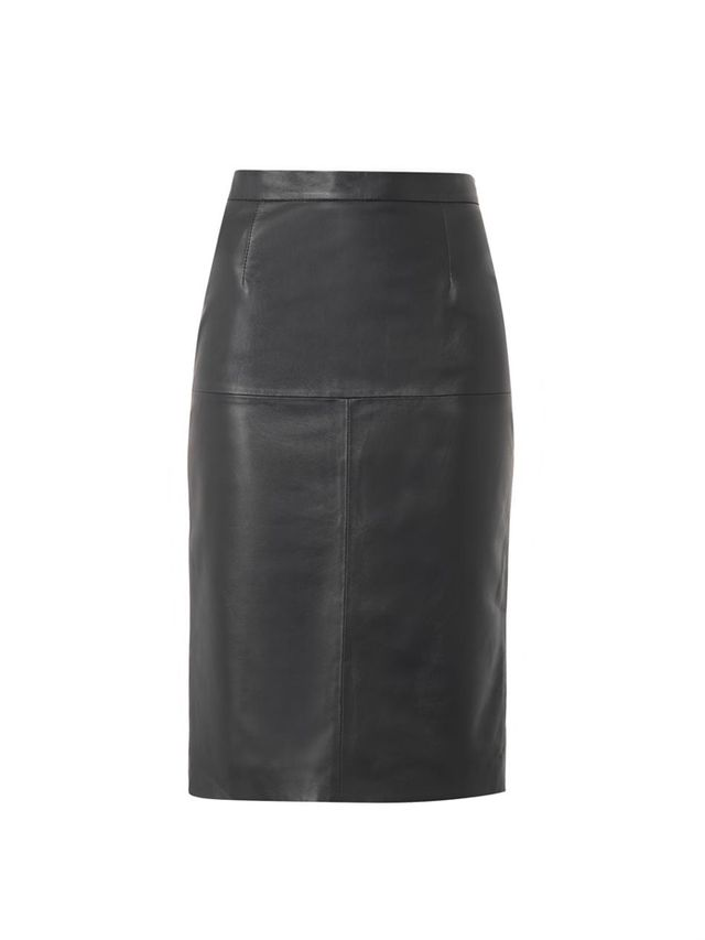 Freda Leather Pencil Skirt