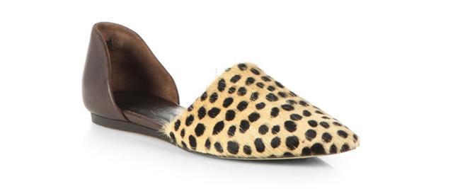 Jenni Kayne Cheetah-Print Calf Hair & Leather D'Orsay Flats