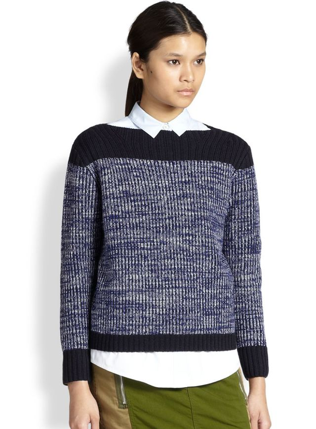Marc by Marc Jacobs Julie Ribbed Wool & Cashmere Colorblock Sweater