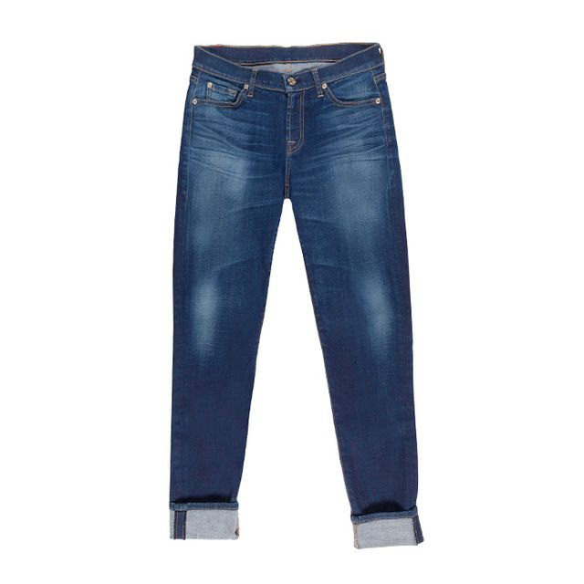 Relaxed Skinny in Genuine Medium Blue 7 For All Mankind