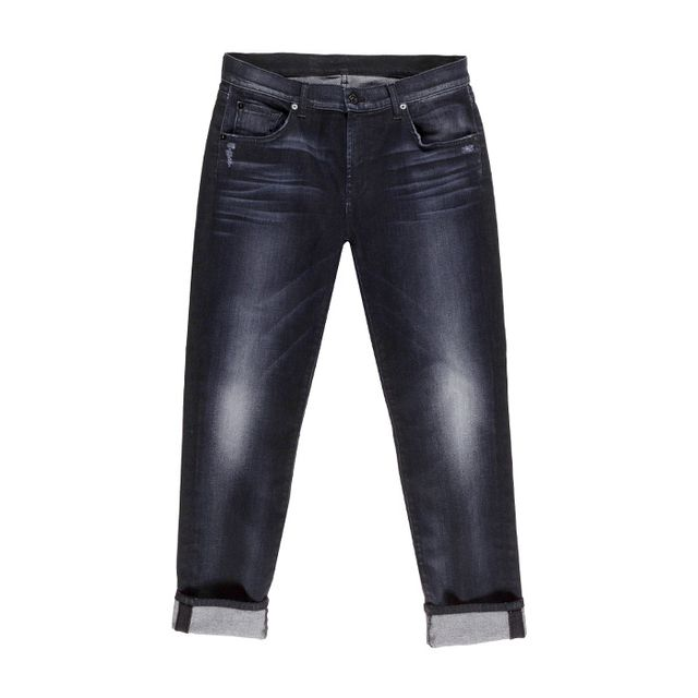 Relaxed Skinny in Storm Black 7 For All Mankind
