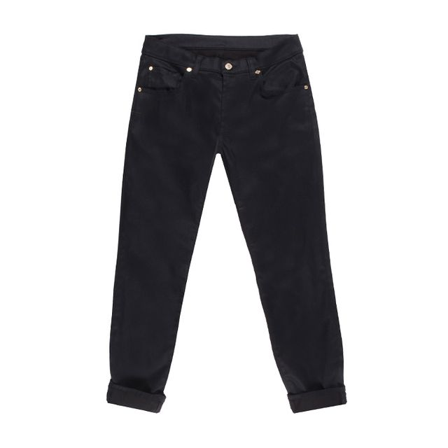 The Relaxed Skinny in Slick Black 7 For All Mankind