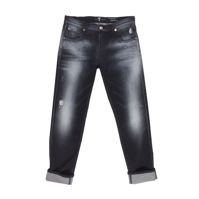 Relaxed Skinny in Slim Illusion Ultimate Icy Black 7 For All Mankind