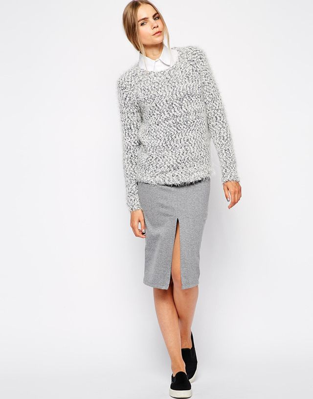 Selected Nilja Pencil Skirt With Front Split