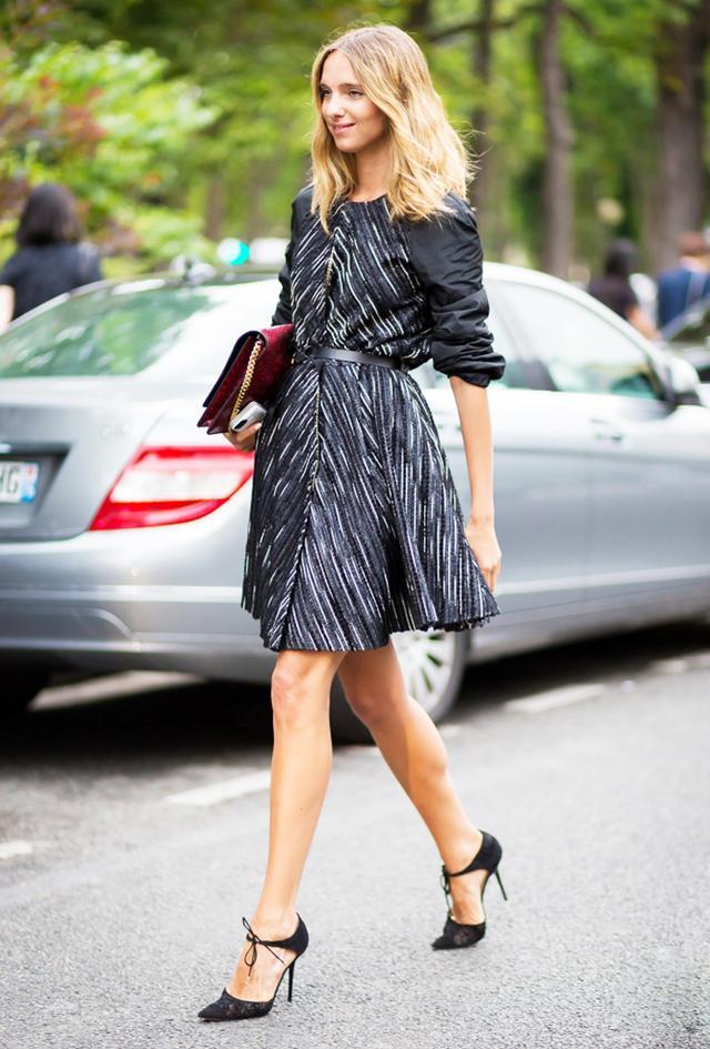The Dress: A-Line The Shoes: Lace-Up Pumps