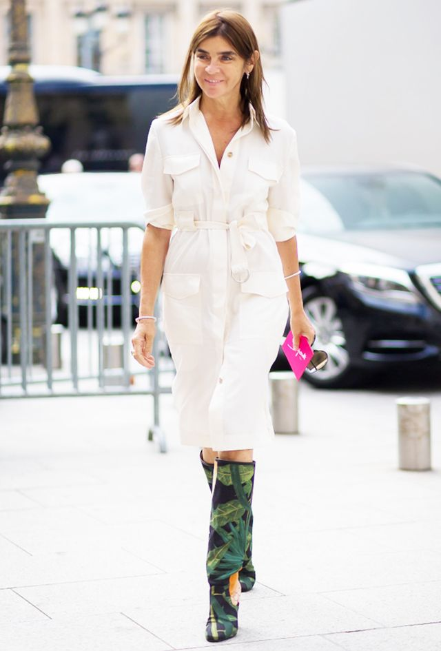 The Dress: Shirtdress The Shoes: Knee-High Boots