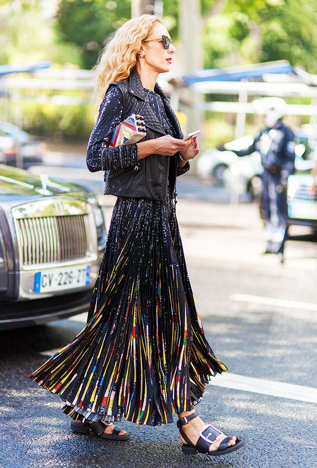 The Dress: Fancy and Floor-Length The Shoes: Statement Flats
