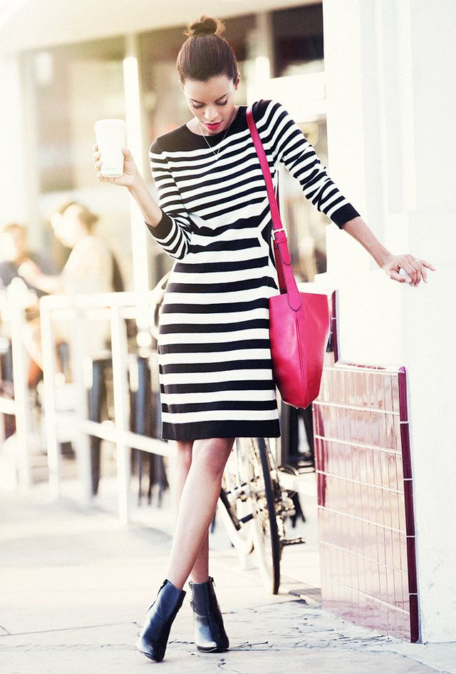 The Dress: Sweater The Shoes: Ankle Boots  Full look via Marshalls.