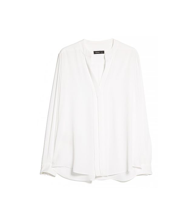 Mango Placket Lightweight Blouse