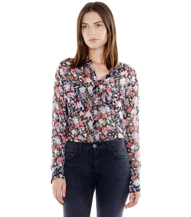 Equipment Signature Shirt in Dark Bloom