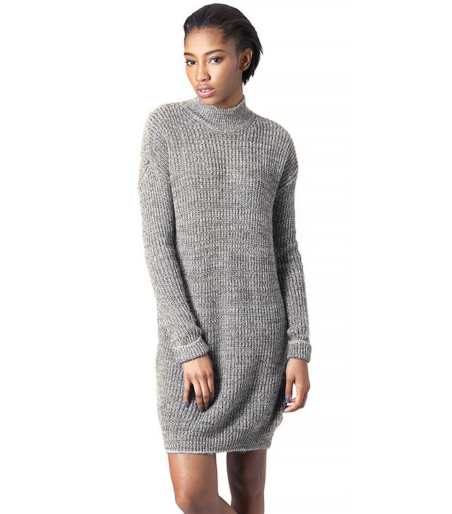 Topshop Roll Neck Sweater Dress