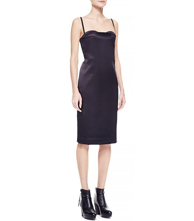 Acne Studios Spaghetti-Strap Satin Dress