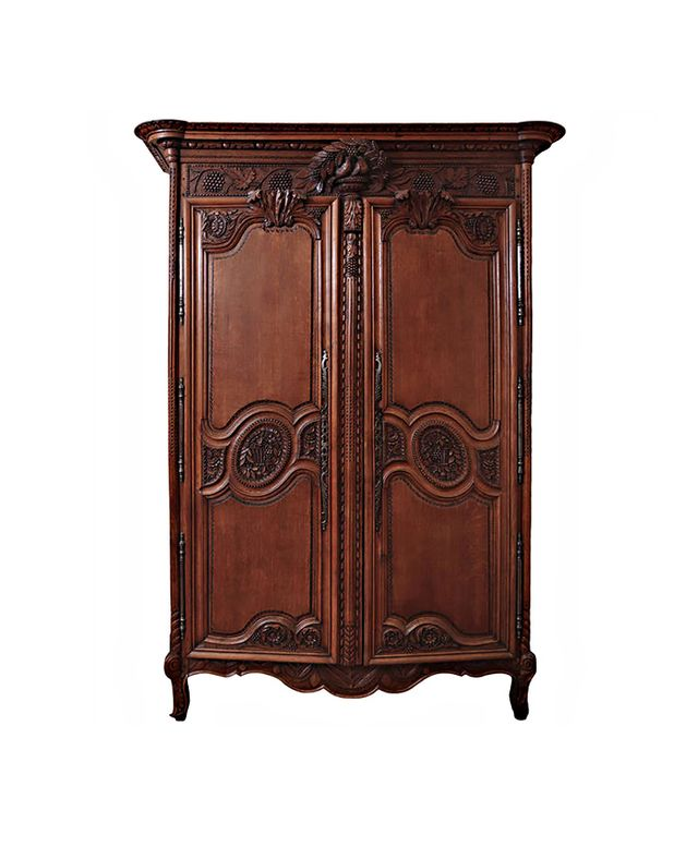 Spalding Antiques Country French Matrimonial Oak Armoire