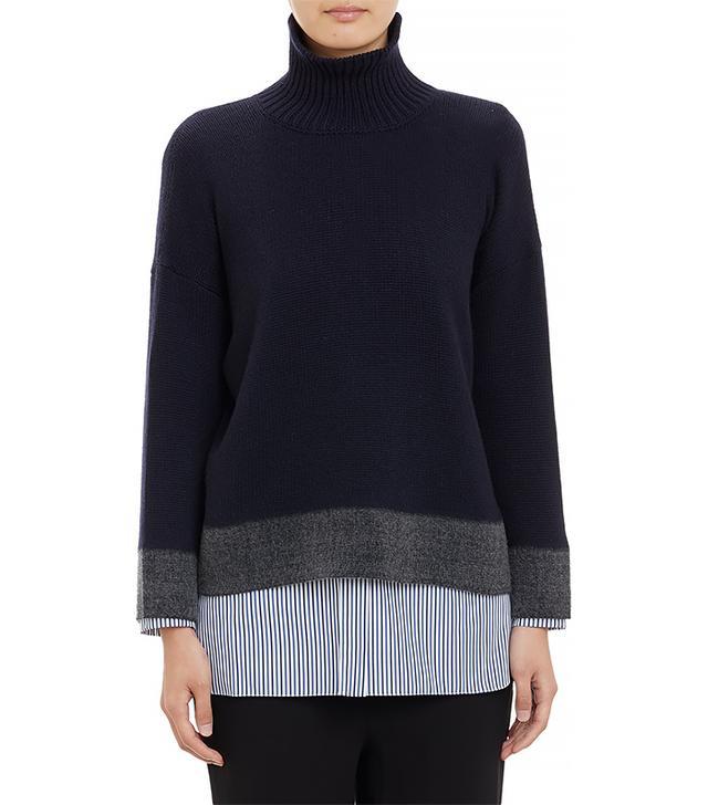 Marni Colorblock Turtleneck Sweater