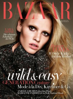 Lara Stone's Beautiful And Cosy Spread For Harper's Bazaar Germany