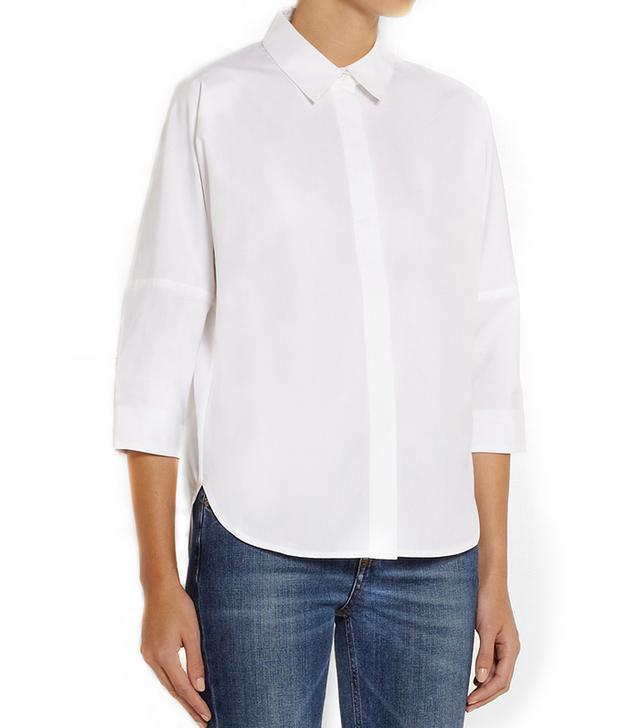 Victoria Beckham Denim Oversized Cotton Shirt