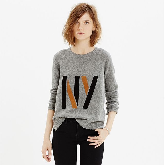 Madewell Suede NY Pullover