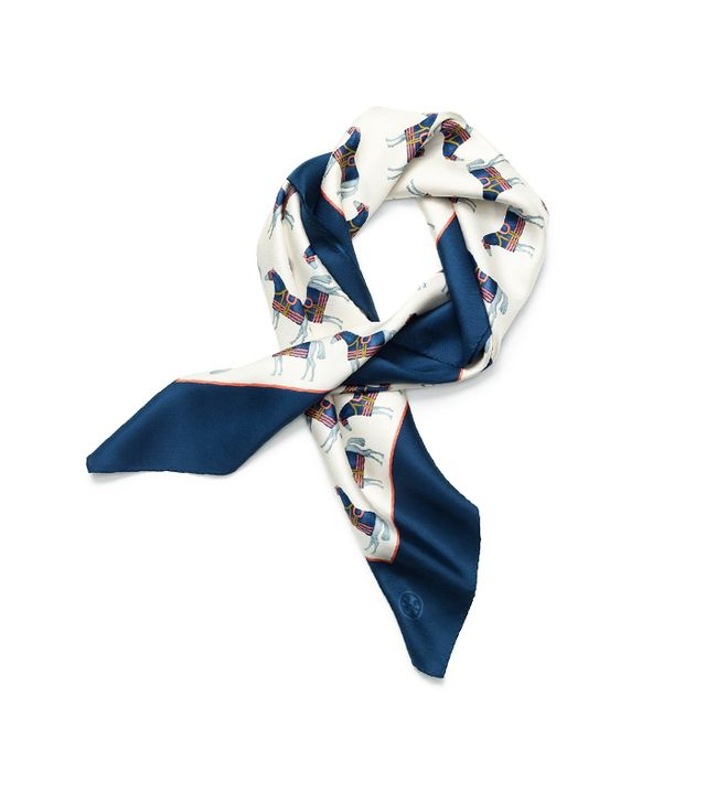 Tory Burch Horse-Print Square Scarf