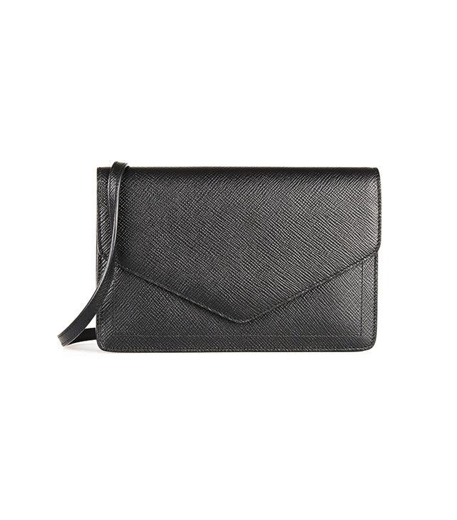Smythson Panama Textured-Leather Shoulder Bag