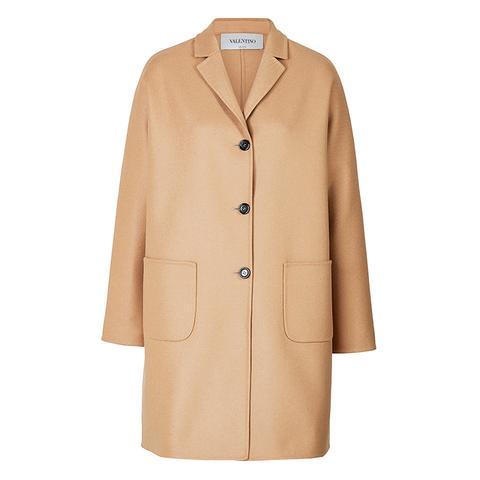 Wool-Angora Felt Coat