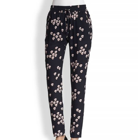Collins Silk Printed Track Pants