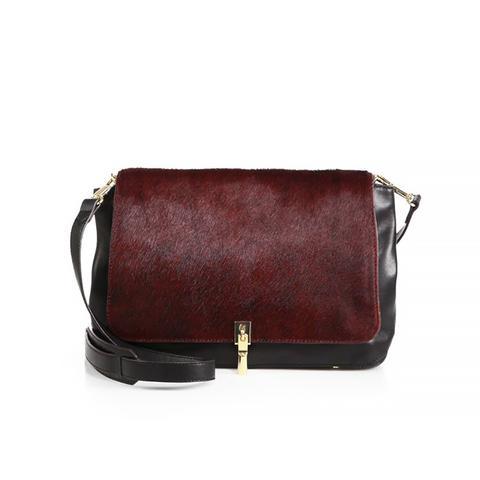 Calf Hair & Leather Medium Crossbody Bag