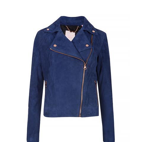 Sapley Suede Leather Biker Jacket