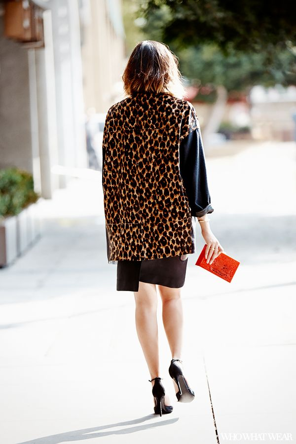 """One of my favourite go-to combinations is pairing the colour red with leopard print. In my opinion, this is a perfect look for a fun night out with friends."""