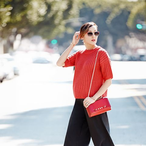 Chriselle Lim shows us four ways to wear red this fall