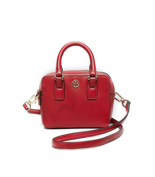 Tory Burch Crossbody Robinson Shrunken Boxy Satchel