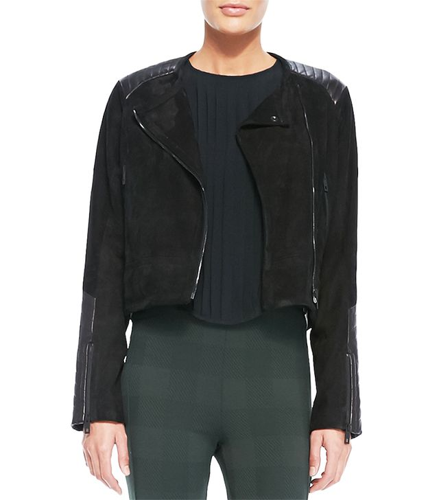 Rag & Bone Elettra Leather/Suede Cropped Jacket