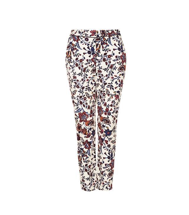 Topshop Floral Cigarette Trousers