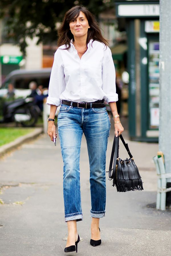 sophisticated jeans styling